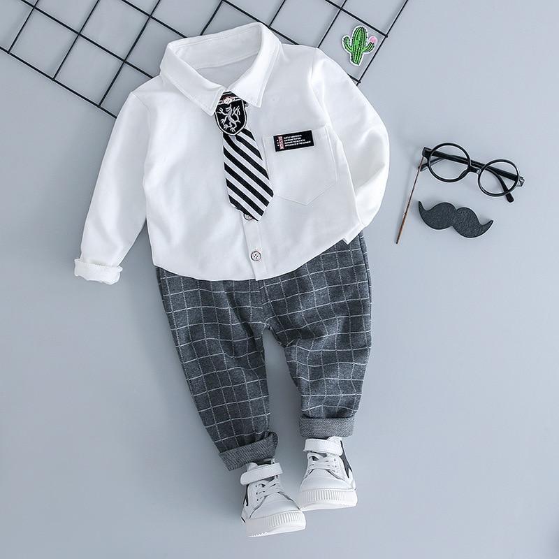 Baby Boy Clothes For Children Fashion Suit Newborn Clothes Set Autumn Winter Baby Clothes T-shirt+Pants Outfits Infant Clothing