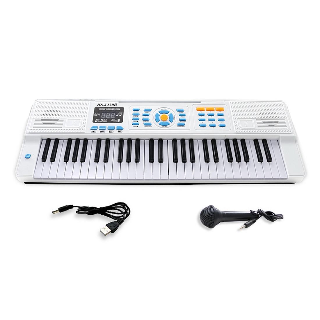 teclado eletrico multifuncional para criancas 54 teclas com display de led microfone