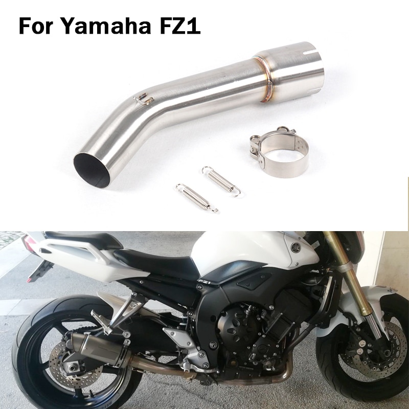For Yamaha FZ1 Motorcycle Exhaust System Pipe Middle Mid Pipe Escape Connect Link Section Tube Stainless Steel Slip On