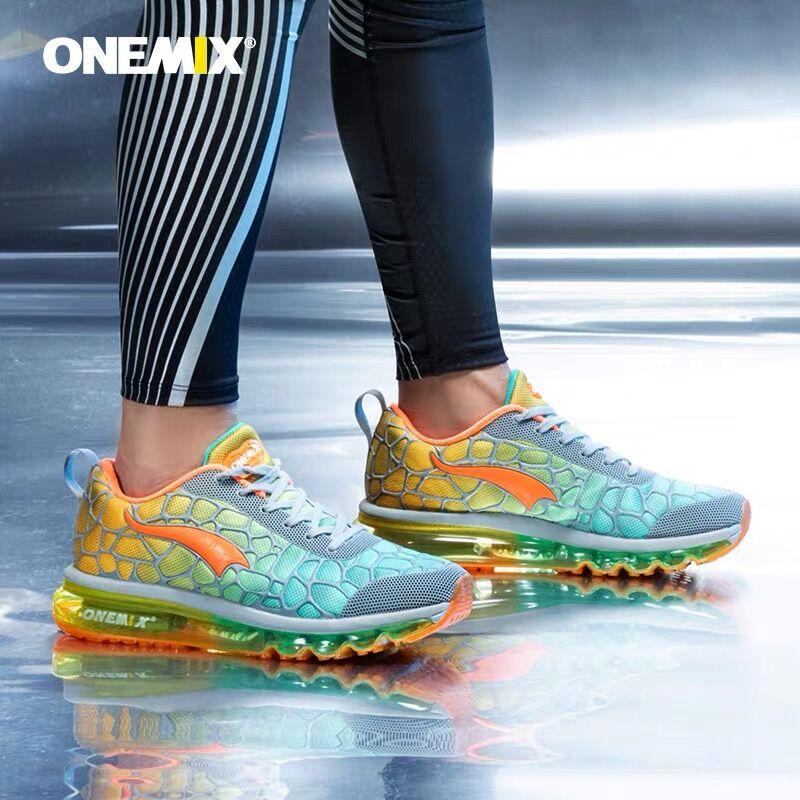 Onemix-Zapatillas deportivas con cojín de aire para hombre, calzado deportivo para correr, caminar, atlético, para exteriores