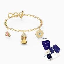 2020 bijoux fantaisie SWA nouveau symbolique bouddha Bracelet bouddha Lotus forme Rose or chaîne femmes luxe bijoux cadeau