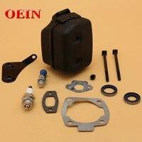 muffler bracket support gasket kit fit husqvarna 55 50 51 55 rancher 55 eu1 garden chainsaw parts oem 501 76 88 01