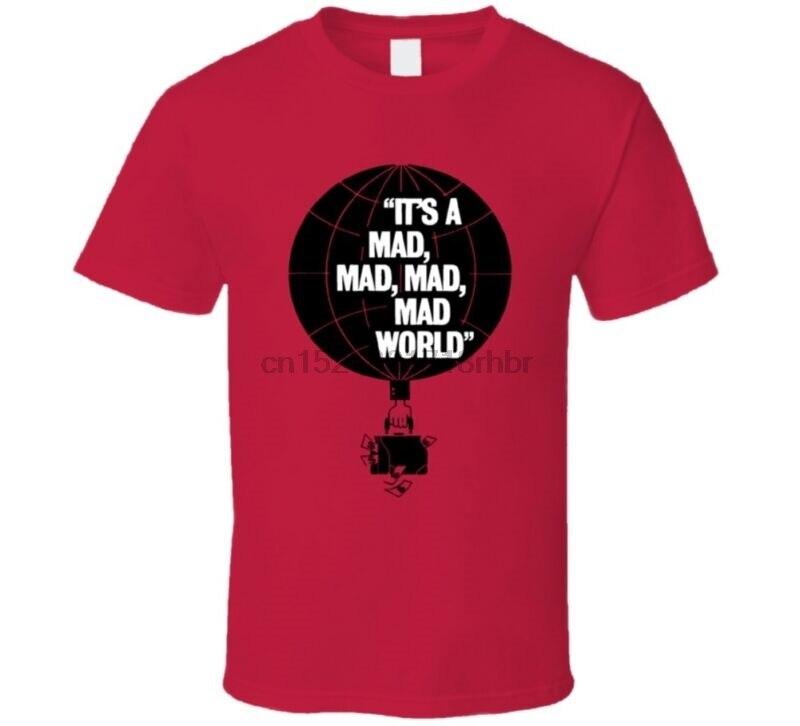 Es un loco mundo loco películas clásicas Fan parodia póster camiseta