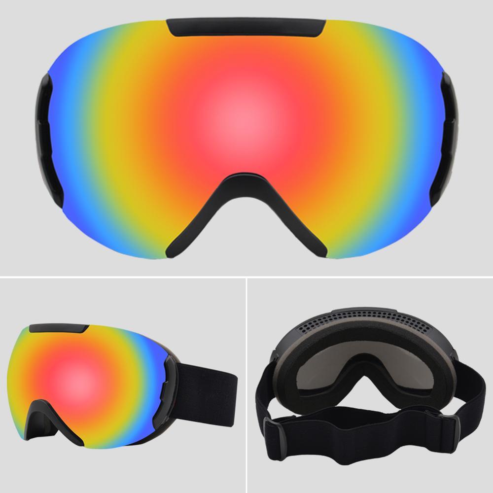 2020 novo óculos de esqui camadas duplas uv400 anti-nevoeiro grande máscara de esqui óculos de esqui neve dos homens mulheres snowboard óculos GOG-201 pro