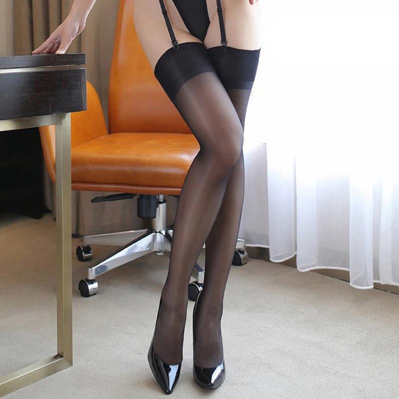 Сексуальные женские чулки высокие чулки прозрачные длинные чулки женские новые чулки