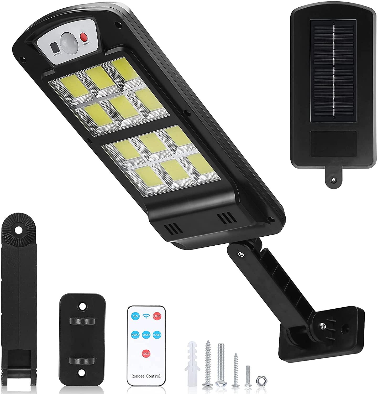 240 светодиодный уличный фонарь на солнечной батарее наружный датчик движения, прожекторы с дистанционным управлением для двора, сада, палуб...
