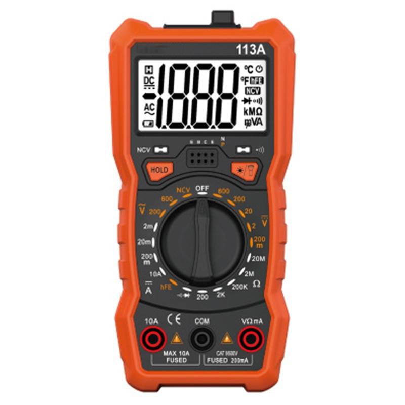 RM113A/RM113D/RM113E multímetro Digital, 6000 cuentas rango automático AC/DC medidor de tensión de Flash luz de la pantalla grande de 113A/D