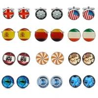 luxury new shirt cufflinks for mens brand cuff buttons national flag cuff links gemelos high quality abotoaduras jewelry