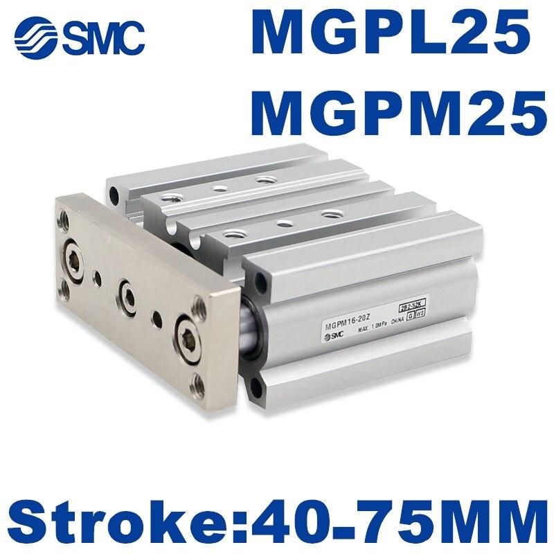 MGPM MGPL جديد SMC MGPM25 MGPL25 MGPM25-40Z -50Z -75Z المدمجة دليل اسطوانة MGPL25-40Z -50Z -75Z