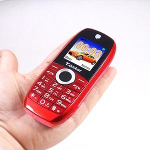 Мини мобильный телефон HD дисплей с подстветкой 2G GSM Двухканальное устройство сим-карта звонки по Bluetooth MP3 телефон bood запись сигнализации сотовом телефоне