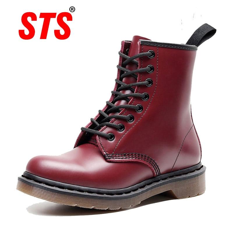 Martin Boots Women Genuine Leather Shoes Winter Boots Shoes Woman Casual Couple Unisex Autumn Botas