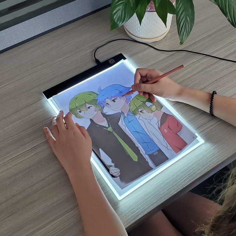 A4 Led Drawing Board 3 Level Dimmable Led Drawing Copy Pad Board Children's Toy Painting Educational Creative Gifts For Children