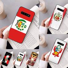 Yinuoda flaga Peru Coque Shell etui na telefon do Samsung Galaxy A50 A30 A71 A40 S10E A60 A50s A30s uwaga 8 9 S10 Plus S10 S20 S8