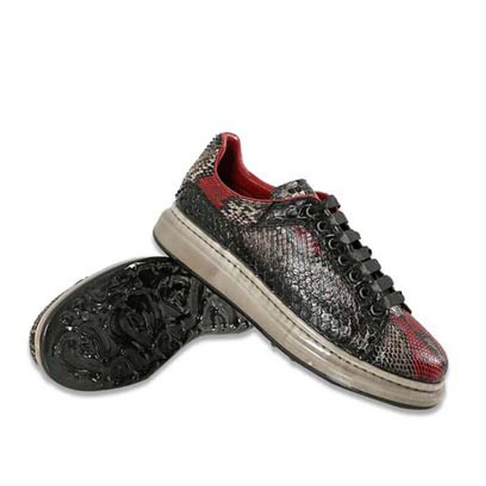 Tianxin جلد الثعبان حذاء رجالي الفم الضحلة الرجال ثعبان أحذية وقت الفراغ أحذية وسادة هوائية قيعان