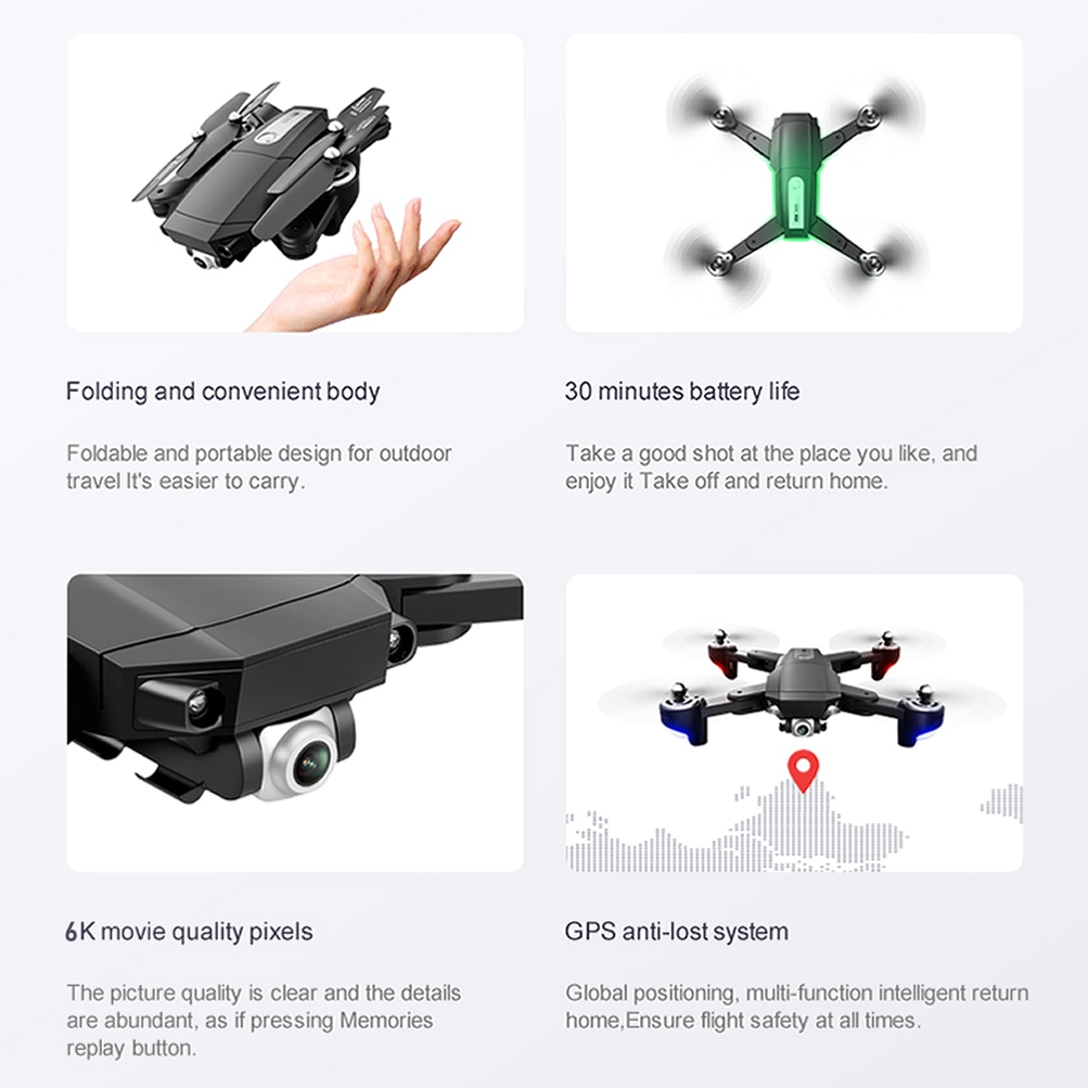GPS RC Drone with 6K HD Dual Camera Professional Aerial Photography Quadcopter UAV Remote Control Brushless Motor Aircraft enlarge