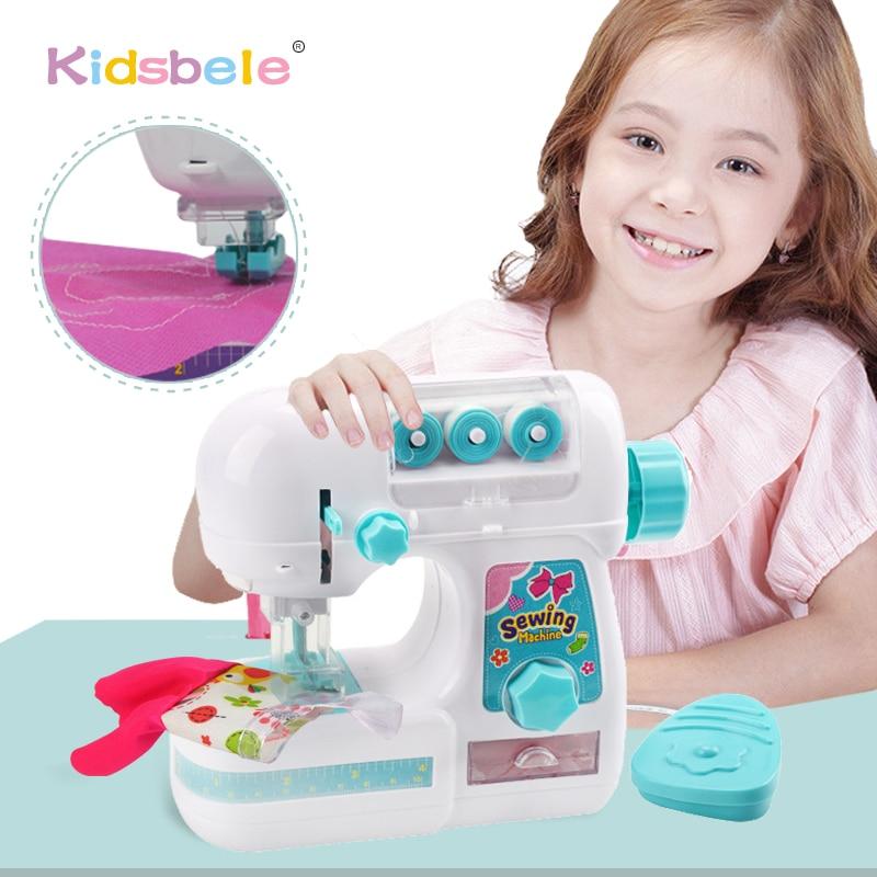 لعبة محاكاة ماكينة الخياطة للأطفال ، أثاث صغير ، لعبة تعليمية ، تصميم ملابس ، ألعاب إبداعية ، هدية للبنات
