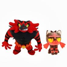 2 Styles Animal Dolls Litten Evolution Alola Incineroar Solgaleo Lunala SUN/MOON Stuffed Plush Doll Soft Hot Toys 20 cm-3