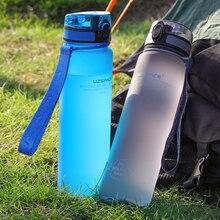 UZSPACE 1L sportowe butelki na wodę blender do napojów przenośna szczelna przestrzeń dla dorosłych jazda na rowerze podróże Camping piesze wycieczki My BPA free