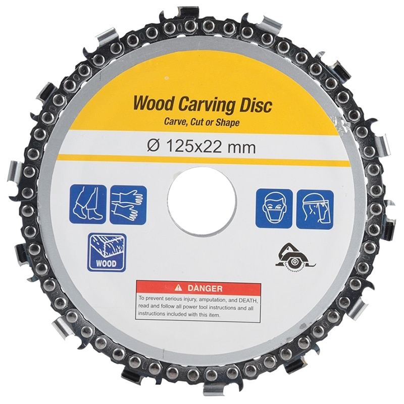 1pc disc for wood carving woodworking chain grinder chain saws cutting disc chain plate tool for angle grinding 5 inch 4 inch 5 Inch Chain Grinder Chain Saws Disc Woodworking Chain Plate Tool 4 Inch Multi-Functional Wood Carving Disc Angle Grinding Tool