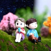 Mini bonsai pour Couple amoureux  2 pieces  decoration de mariage  maison  jardin  Micro paysage  bricolage artisanal  HX5B