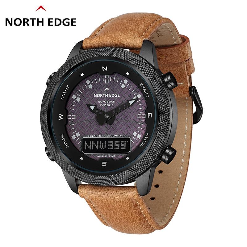 North EdgeEVOQUE New Popular Men Digital Quartz Watch Mens Outdoor Solar Watches Waterproof Solar watch Outdoor waterproof watch enlarge