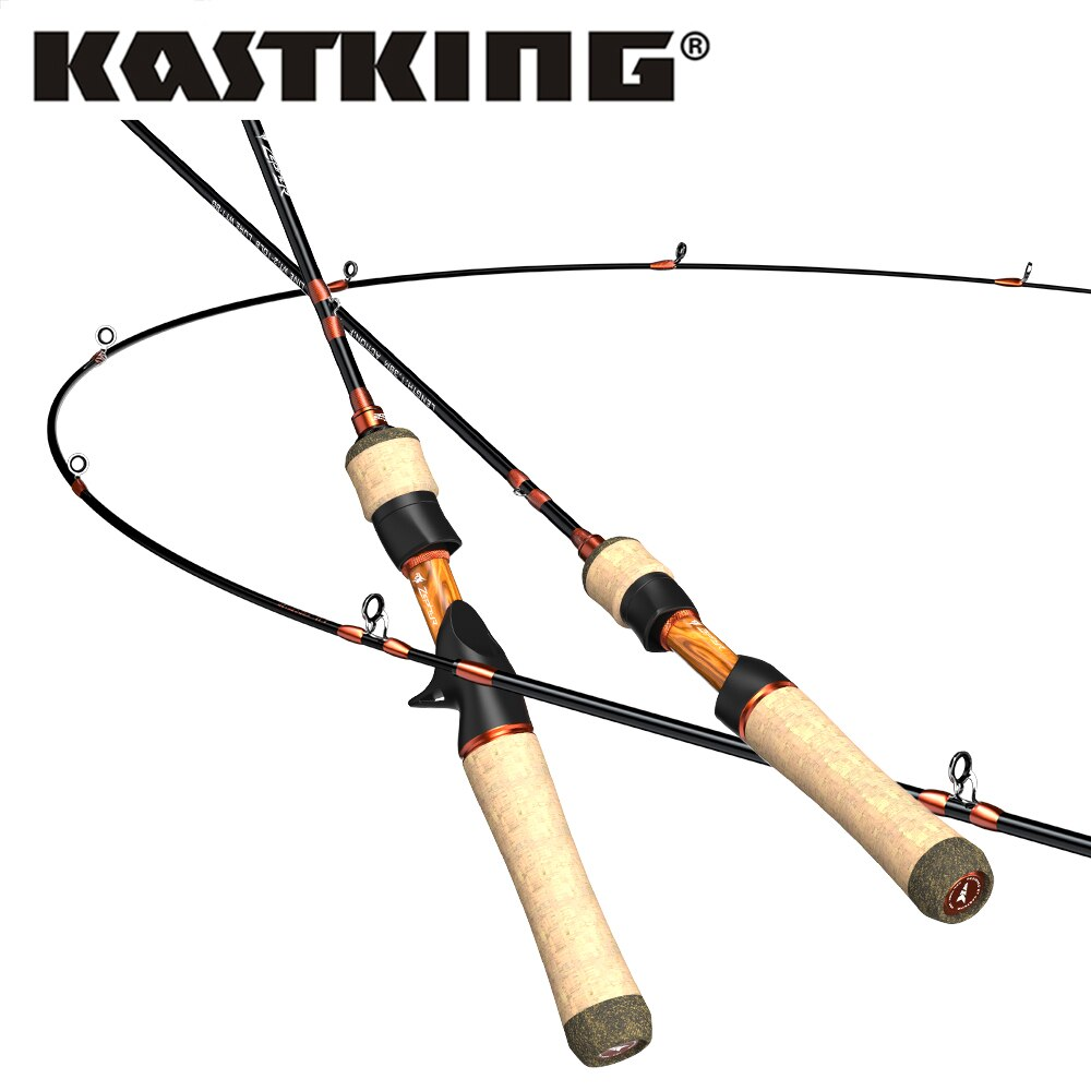 Caña de pescar KastKing Zephyr de fundición giratoria ultraligera UL de 24 toneladas de fibra de carbono 2 secciones 1,53 m 1,68 m 1-8g caña de pescar
