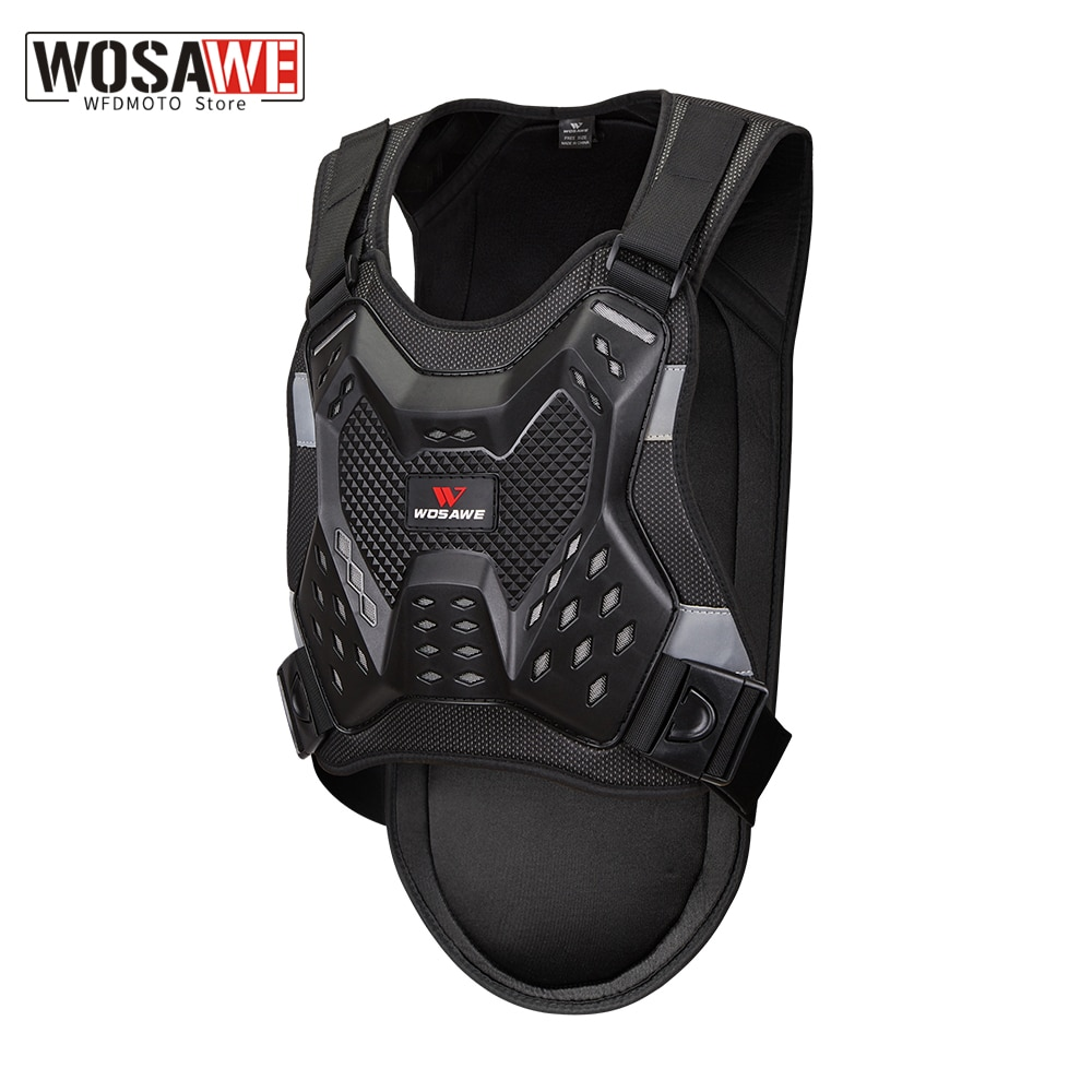 WOSAWE Motorcycle Armor chest back protector Motocross Body Armor guard Racing Body Protector protective Gear MOTO Adult  Jacket wosawe motorcycle jacket full body armor back chest protector motocross racing clothing riding protective gear moto protection