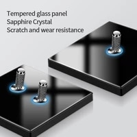kamanni tempered glass toggle switch socket led iris household usb socket dual control wall light switch panel