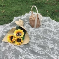 lace picnic cloth spring outing lawn mat picnic outdoor mat table cloth pastoral wind mesh camping mat