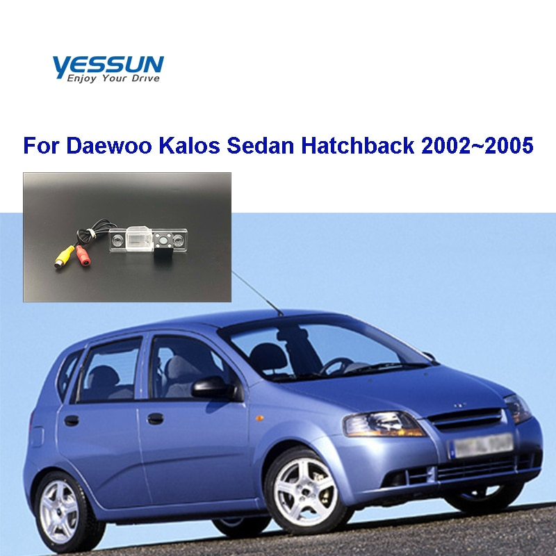 Yessun hd ccd visão noturna câmera de visão traseira do carro para daewoo kalos sedan hatchback 2002 camera 2005 câmera traseira