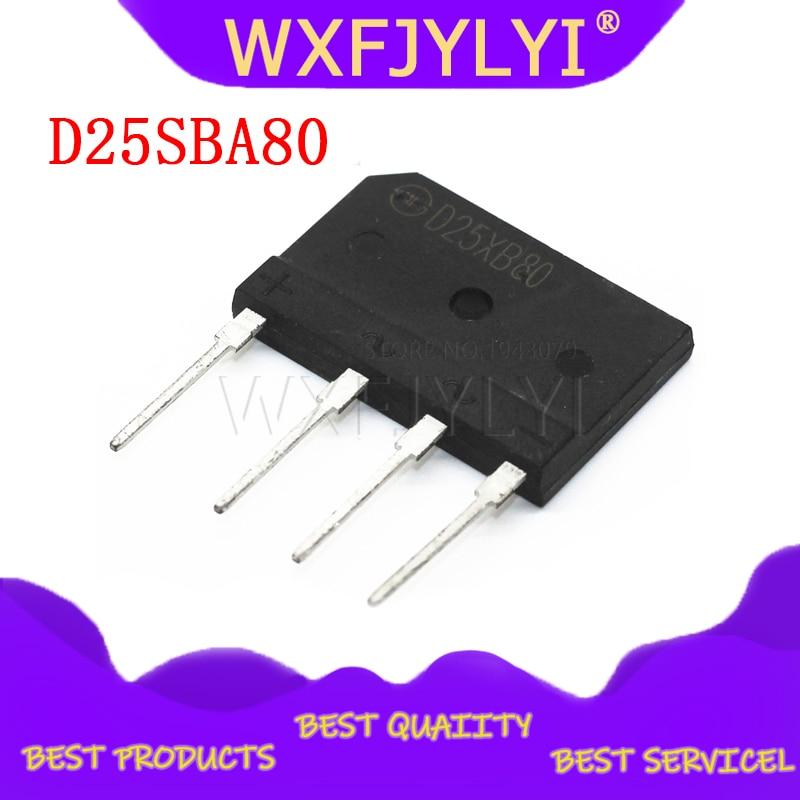 5 piezas D25XB80 D25SBA80 puente rectificador 25A 800V 25xb80 dip puente plano