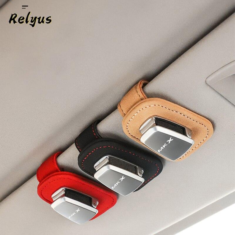 Чехол для автомобильных очков, зажим для билета, карты, держатель для солнцезащитных очков для Lincoln MKX, автомобильные аксессуары
