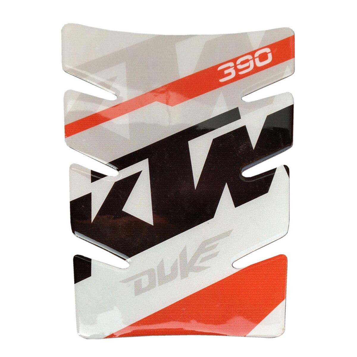 Motocicleta de alta calidad para KTM Duke 390 pegatina tipo almohadilla para depósito 3D calcomanía emblema 2018 2017 Tankpads piezas de Motor protección de motocicleta