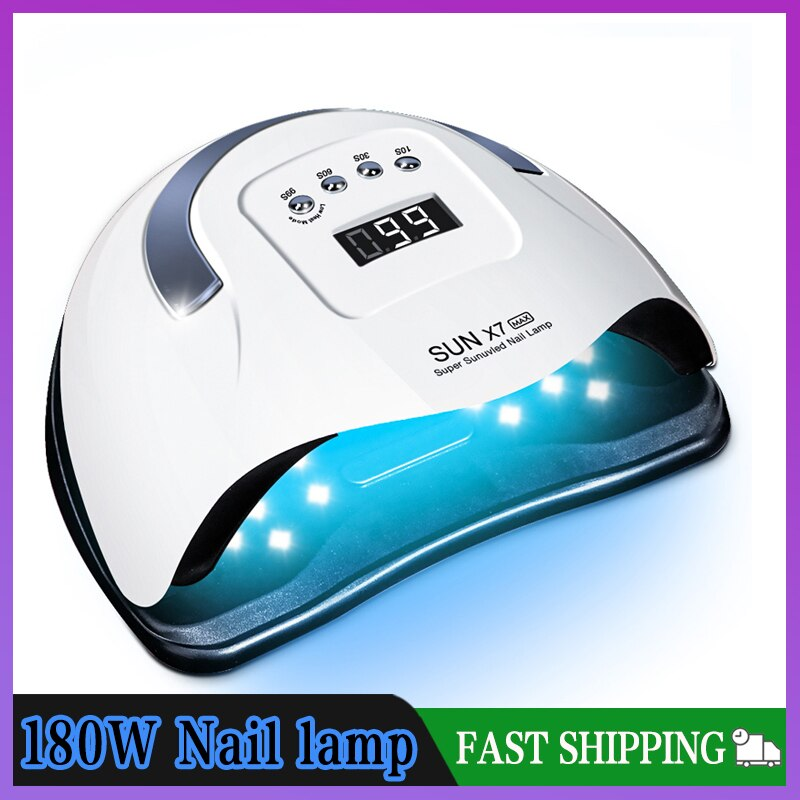 SUN X7 Max 180W Nail Lamp Auto 57LED UV Lamp Quick Dry Nail Gel Dryer Lamp Professional Phototherapy