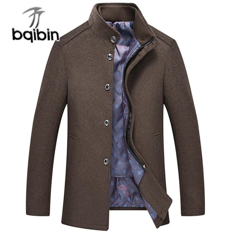 Abrigo de lana para hombre, a la moda Forro de algodón, chaqueta...