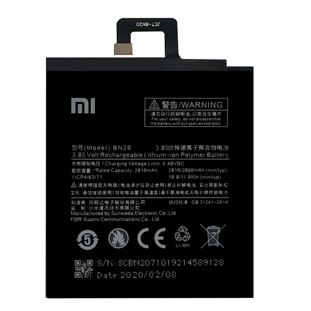 20pcs/lot Newest Original Battery BN20 For Xiaomi Mi 5C Mi5C High Quality Replacement Batteries with Repair Tools 2810mAh enlarge