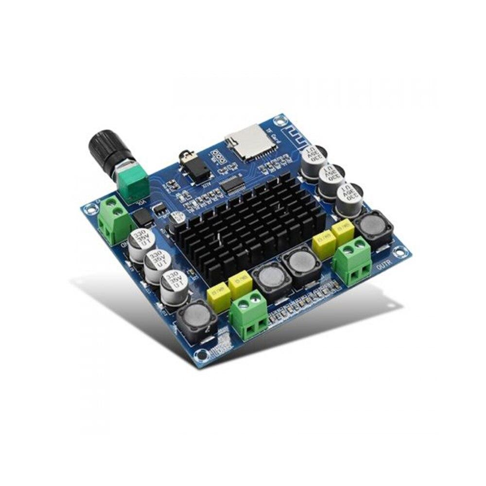XH-A104 Bluetooth 4,1 TPA3116 цифровой усилитель мощности плата 2x50 Вт стерео усилитель модуль поддержка tf-карты AUX потенциометр