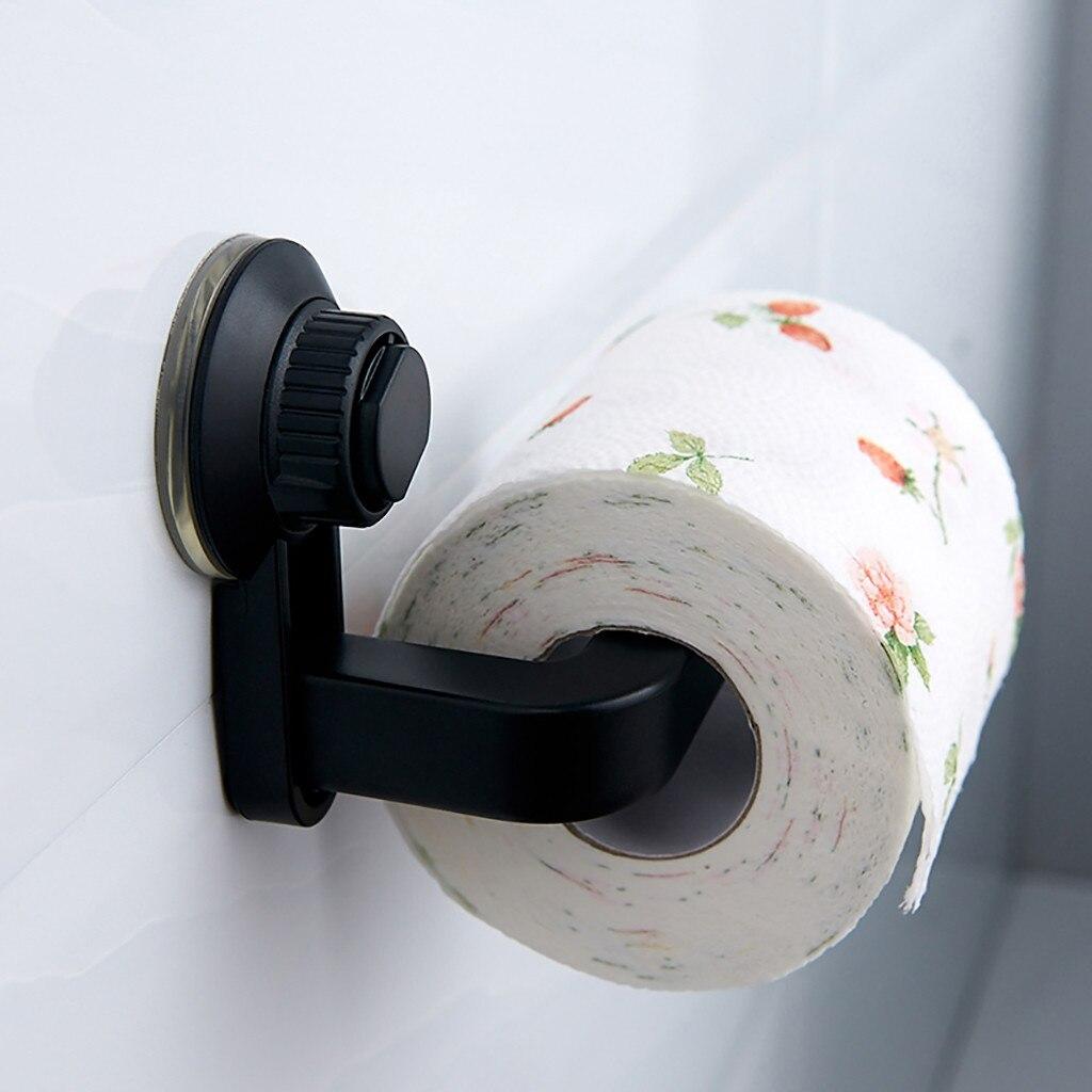 Bad Wc Papier Halter S uper Lagerung Saugnapf Wand Montieren Abnehmbare Rack Küche Bad Kleinigkeiten Organisatoren