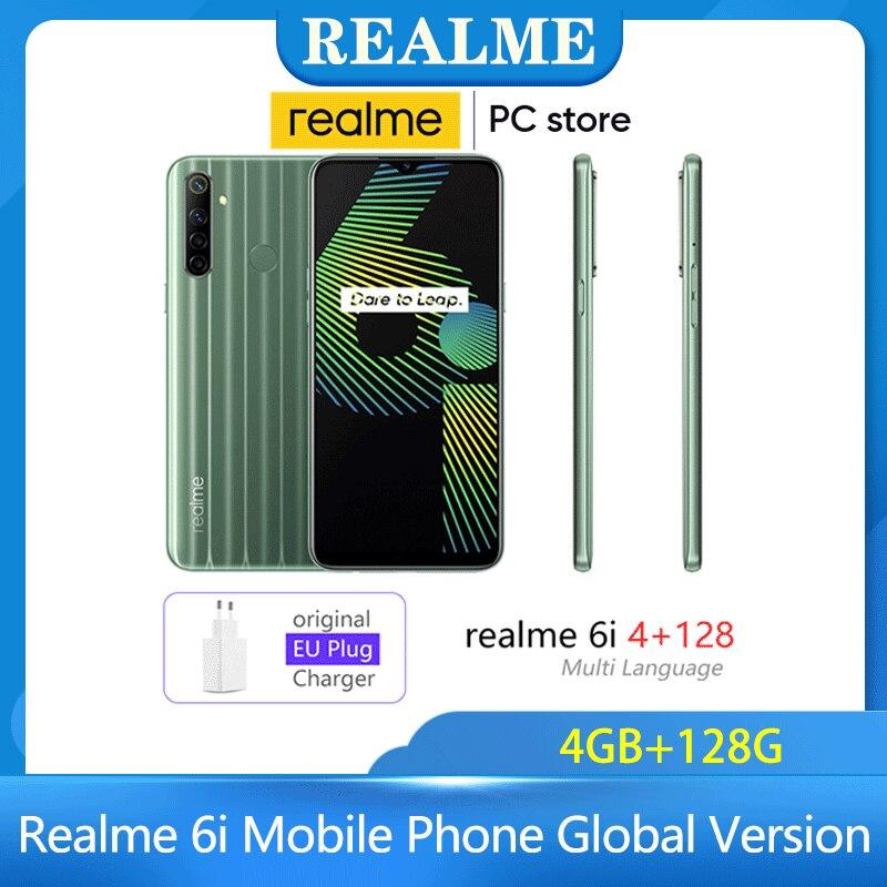 Realme 6i 4GB RAM 128GB ROM Mobile Phone Global Version 5000mAh Battery 6.5