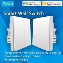 Commutateur mural Aqara Zigbee capteur de moyeu de kit de maison intelligente fonctionne avec Wi-Fi Xiaomi Mi mijia xiomi xaomi application pour la maison Apple Siri
