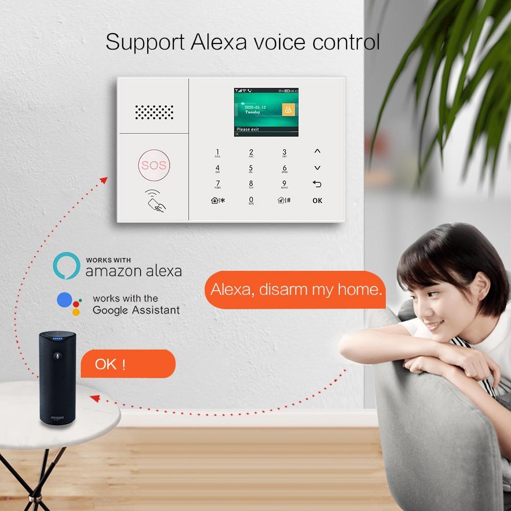 MULO Wifi GSM Simply Safe Alarm System for Home Business Wireless Tuya Smart Home SMS APP Control Burglar Alarm DIY Kit PG108 enlarge