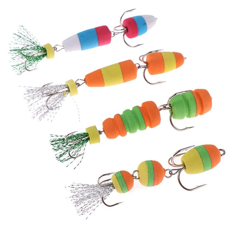 2 uds. Señuelos Popper flotadores Minnow, accesorios de pesca, plantilla de señuelo de pesca, señuelo giratorio suave, cebo para insectos, cebos para nadar, señuelos Wobbler Bass