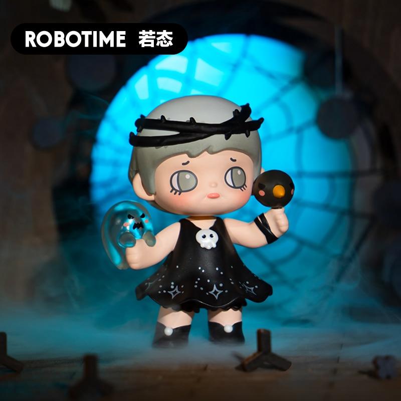 Robotime-figurines de parc dattractions Yoola, jouets pour enfants, personnage de fantôme noir mignon, modèle boîte aveugle, cadeau YBXX0