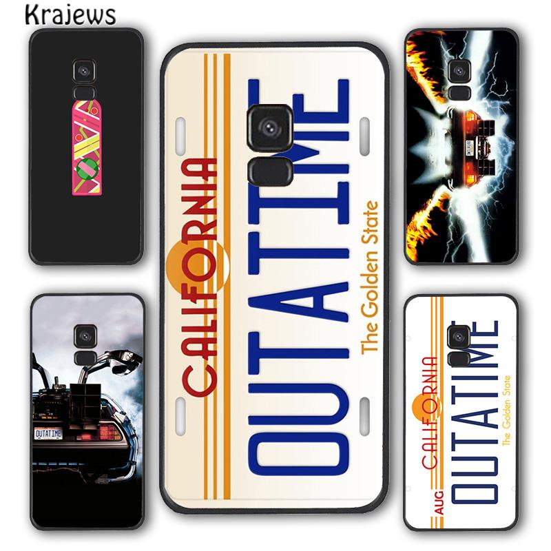 Krajews Back To The Future License Plate OUTATIME Phone Case Cover For Samsung Galaxy S7 S8 S9 S10 E