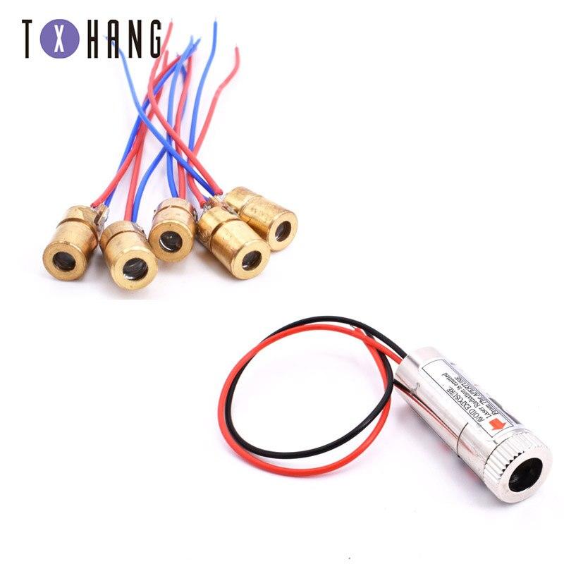1 PC Rote Linie Laser Modul 5mW 650nm Fokus Einstellbar Laser Kopf 5V Industrie Grade diy elektronik