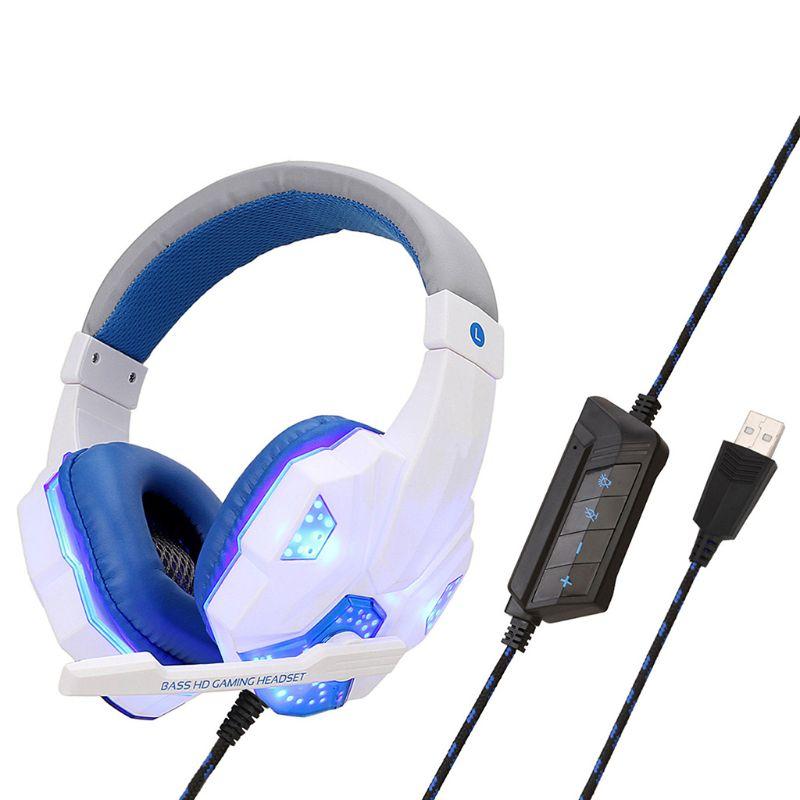 Soyto SY830 de luz Led profesional de auriculares para computadora PS4 PC Gamer