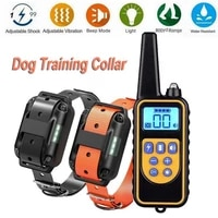 dog training collar pet remote control waterproof rechargeable with lcd display for all size electric shock vibration sound