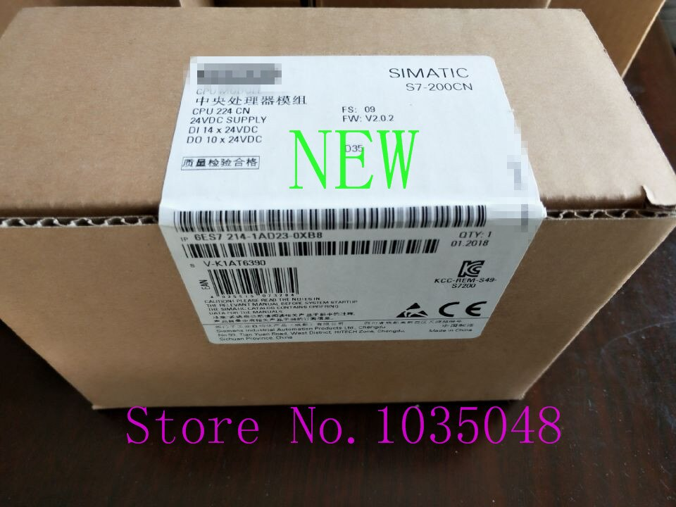 1 unidad 6ES7 214-1AD23-0XB0 6es7214-1ad23-0xb0uso de prioridad nueva y Original de la entrega de DHL