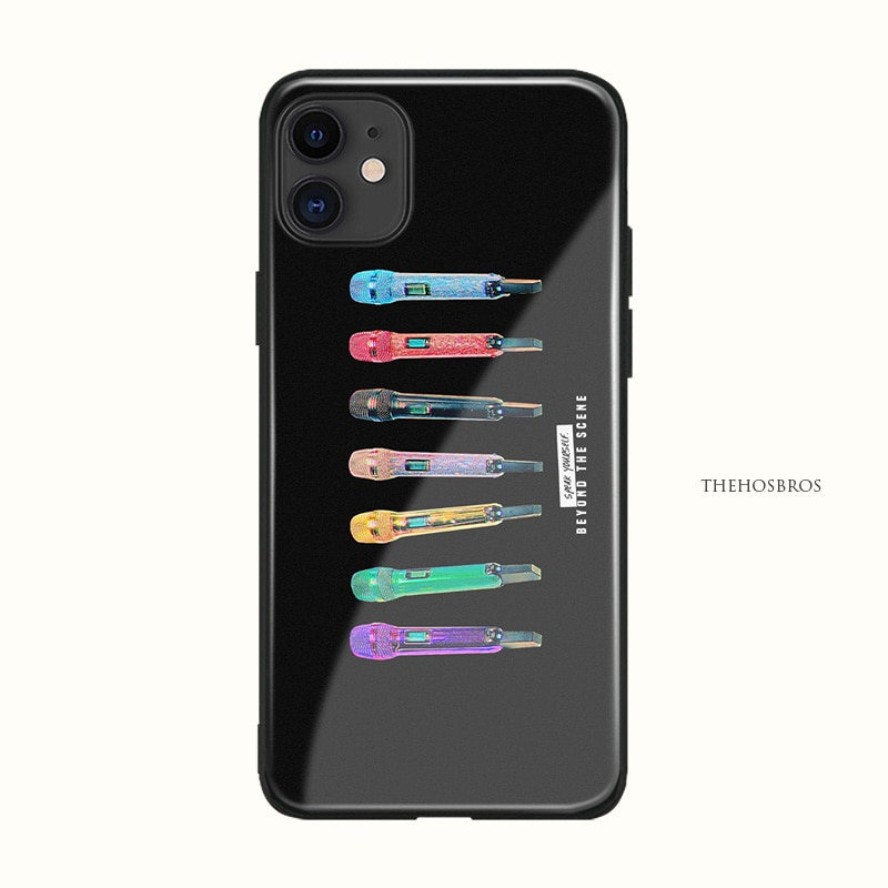 Colorido micrófono de taylor swift suave silicona vidrio suave funda de teléfono carcasa para iPhone 6 6s 7 8 Plus X XR XS 11 Pro Max
