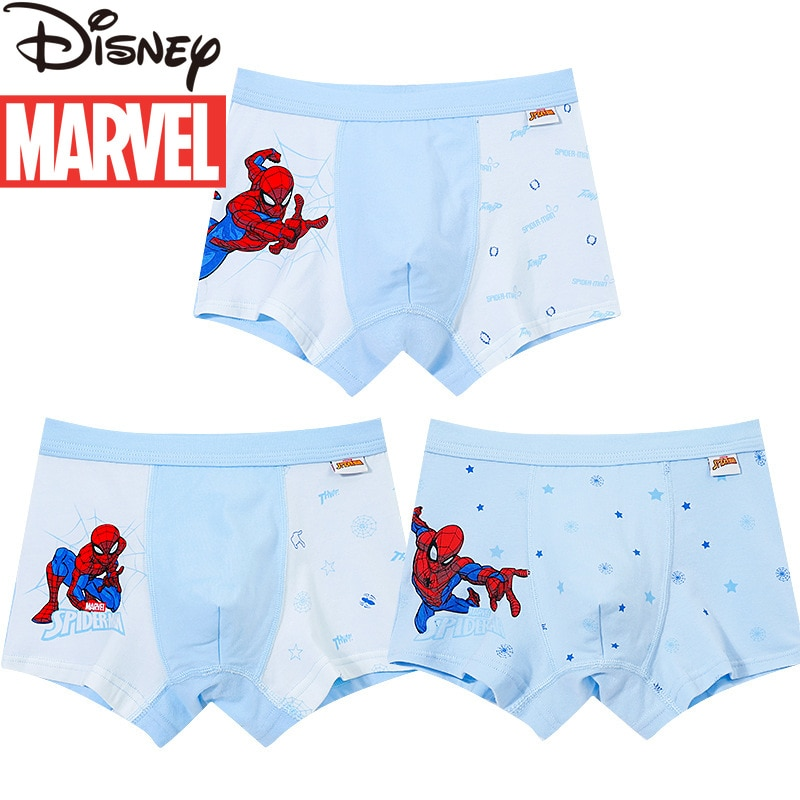 شورت بوكسر من القطن للأطفال ، ملابس داخلية للأطفال من Marvel ، Spider-Man ، Captain America ، 7 سنوات